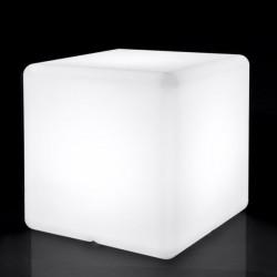 Lampara Cubo Dec 40x40x40cm E27 Ip65 Pe Blanca Retroilu Ext.