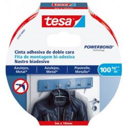 Cinta Adh 19mmx 5mt D/cara Azulejos Tesa Powerbond