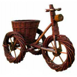 Maceta Jard 55x30x40cm Natuur Mimbre Nat Bicicleta