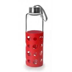 Botella Bebida Con Agarrador 550ml Lake Ro Cristal/silicona