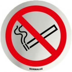Placa Señal 7cm Diam Autoadh In. Prohibido Fumar Normaluz