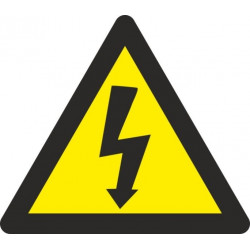 Cartel Señal 090x090mm Autoadh Vinilo Riesgo Electrico Norma