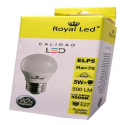Lampara Ilumin Led Esf. E27 5w 500lm 3000k Royal Led