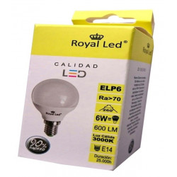 Lampara Ilumin Led Esf. E14 6w 600lm 3000k Royal Led