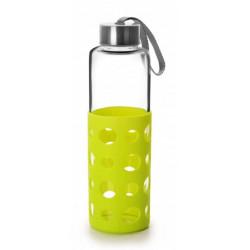 Botella Bebida Con Agarrador 550ml Lake Ver Cristal/silicona