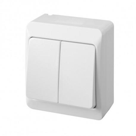 Interruptor Elec 10amp-250v Estanco Sup. Dob Ip54 Abs Bl Poo
