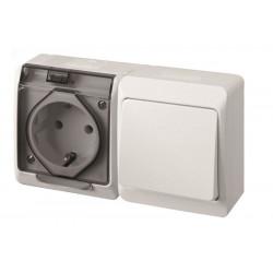 Interruptor Elec 16amp-250v Estanco Conm. Enchufe Ip54 Abs B