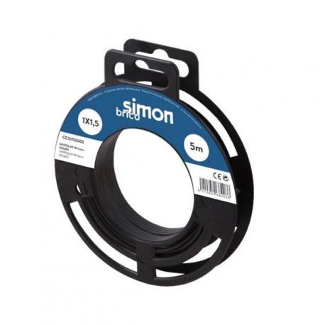 Cable Elec 2x0,75   5mt Mang Simon B Bl H03vvh2-f Pl