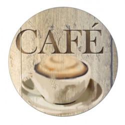 Salvamantel Mesa 20cm Vidrio Cafe Wenko