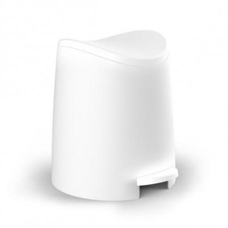 Cubo Baño C/pedal 3lt-19x21,8x22,1cm Pp Bl Tatay