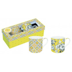 Taza Desayuno C/asa 30cl Mug New Bone Porcel Easy Life 2 Pz