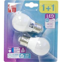 Lampara Ilumin Led Esf. E27 5w 400lm Promo 1+1 4000k 4u