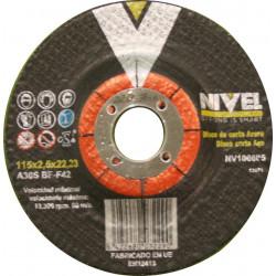 Disco Corte Metal 115x2,5x22 Mm Nivel