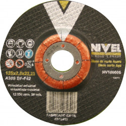 Disco Corte Acero 125x2,5x22 Nivel