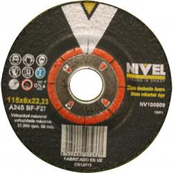Disco Desbaste Acero 115x6x22 Nivel