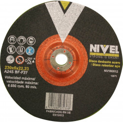 Disco Desbaste Acero  230x6x22 Nivel