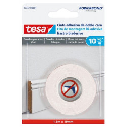 Cinta Adh 19mmx  1,5mt D/cara Pared Pint Tesa Powerbond Tesa