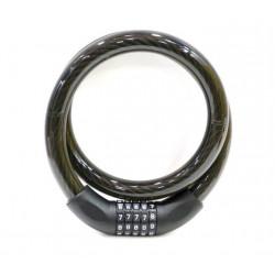 Candado Antirrobo Moto 22x100ccm Cable Combinacion Nivel