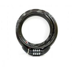 Candado Antirrobo Bicicl 8x1500cm Cable Esp. Combinacion Niv