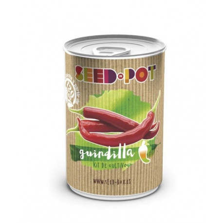 Huerto Urbano Kit Guindillas Seedbox Lata Sustrato+semilla