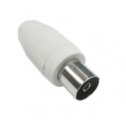 Conector Antena Coaxial Hembra Recto Acero Plastico Axil