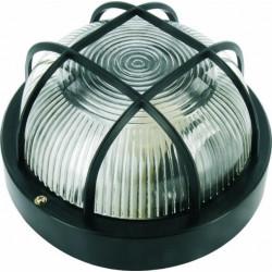 Aplique Ilumin Rdo Ext 60w E27 Ne Rej/plas Smartwares