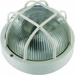 Aplique Ilumin Rdo Ext 60w E27 Bl Rej/plas Smartwares