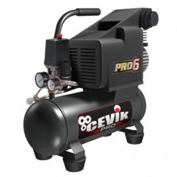 Compresor 6lt.c/aceite 1,00cv. Pro6 Cevik