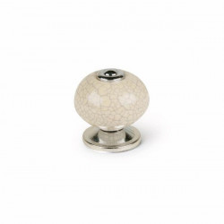 Pomo Mueb 40mm Porcelana/acero Bl Rei