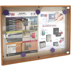 Tablon Anuncios 350x460x36,5mm Btv Alu Mad.cl Diseño H Claro