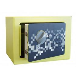 Caja Fuerte Seg Sobrep Elect 170x230x170mm Pixel 17 Btv amarilla