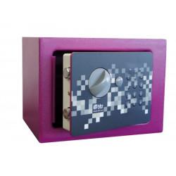 Caja Fuerte Seg Sobrep Elect 170x230x170mm Pixel 17 Btv rosa