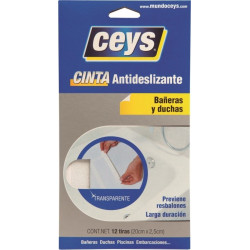 Antideslizante Bañera Tiras 2,5cmx25mm Tra Ceys 8 Pz
