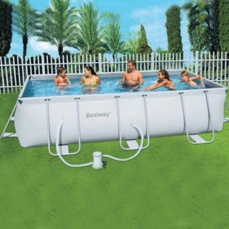 Comprar piscina tubular rectangular desmontable for Piscina desmontable rectangular