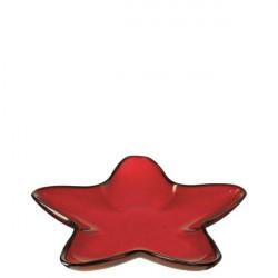 Bandeja Nav. Estrella Ro 29cm Vidrio Rosso Leonardo