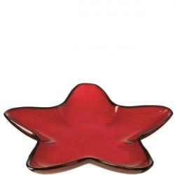 Bandeja Nav. Estrella Ro 39cm Vidrio Rosso Leonardo