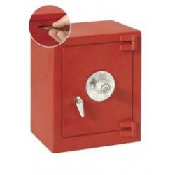 Hucha Caja Fuerte Con Combinacion  Roja