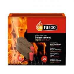 Pastilla Encendido Barbacoa Ecologica Autoencendido Ok Fuego