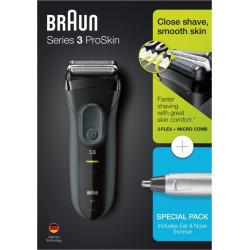 Afeitadora Elec S/cable Laminas 3000 Serie 3 + En10 Braun