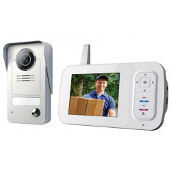 Video Portero Domot Inalambrico Smartwares Monitor 3,5""