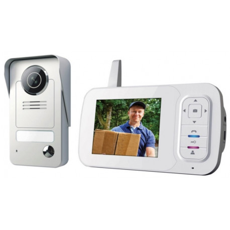 "Video Portero Domot Inalambrico Smartwares Monitor 3,5"""