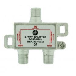 Distribuidor Antena Coaxial 1 Ent/2 Sal 4,5db Electro Dh