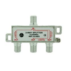Distribuidor Antena Coaxial 1 Ent/3 Sal 8db Zinc Electro Dh