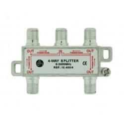 Distribuidor Antena Coaxial 1 Ent/4 Sal 10db Zinc Electro Dh