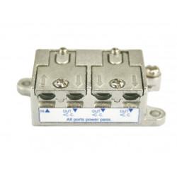 Distribuidor Antena Coaxial 1 Ent/3 Sal 6db Zinc Electro Dh