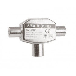 Distribuidor Antena Coaxial 1 Hembra 2 Machos Tri Met. Elect