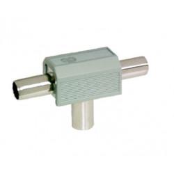 Distribuidor Antena Coaxial 2 Machos 1 Hembra Tri Pl Electro
