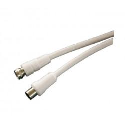 Prolongador Cable Antena F Parabolica 2,5mt Bl Electro Dh