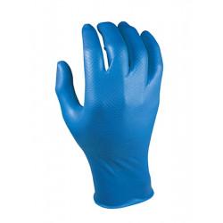 Guante Desechable Azul Escamado Grippaz Nitr. Az Juba 10 Pz