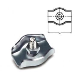 Sujetacable Plano Simple M03 Acero Cinc Sps203 Damesa 100 Pz